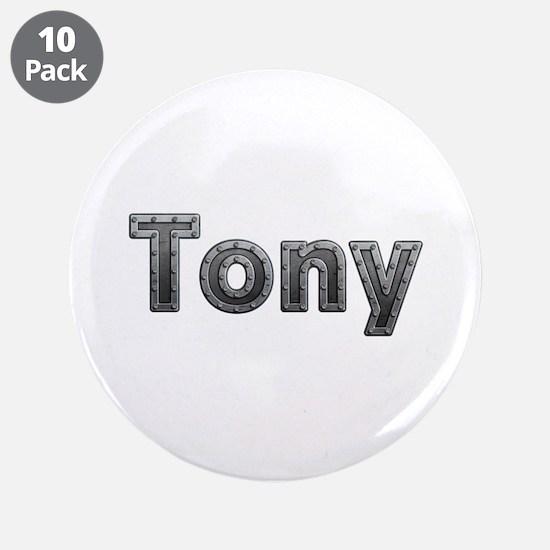 Tony Metal Big Button 10 Pack