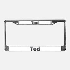 Ted Metal License Plate Frame