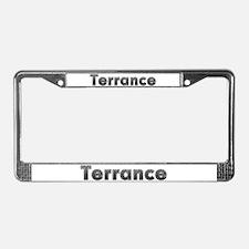 Terrance Metal License Plate Frame
