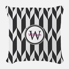 Minimal Pattern Monogram Woven Throw Pillow