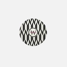 Minimal Pattern Monogram Mini Button