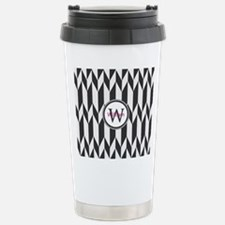 Minimal Pattern Monogra Stainless Steel Travel Mug