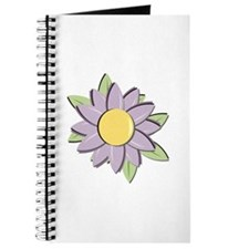 Purple Cartoon Flower Spring Journal