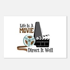 Life is a Movie Direct it Well Postcards (Package
