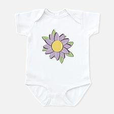 Purple Cartoon Flower Spring Infant Bodysuit