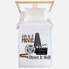 Life is a Movie Direct it Well Twin Duvet