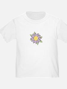 Purple Cartoon Flower Spring T