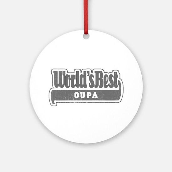 WB Grandpa [Afrikaans] Ornament (Round)