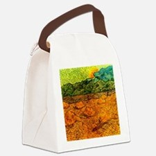Van Gogh - Evening Landscape with Canvas Lunch Bag