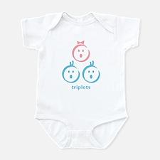 """triplets"" (boy, girl, boy) Infant Bodysuit"