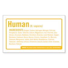Human Ingredients Rectangle Decal