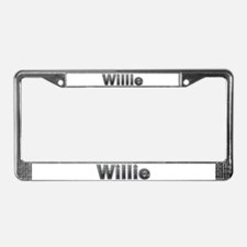Willie Metal License Plate Frame