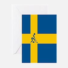 Team Curling Sweden Greeting Cards (Pk of 10)