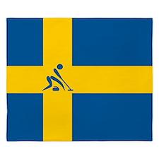 Team Curling Sweden King Duvet