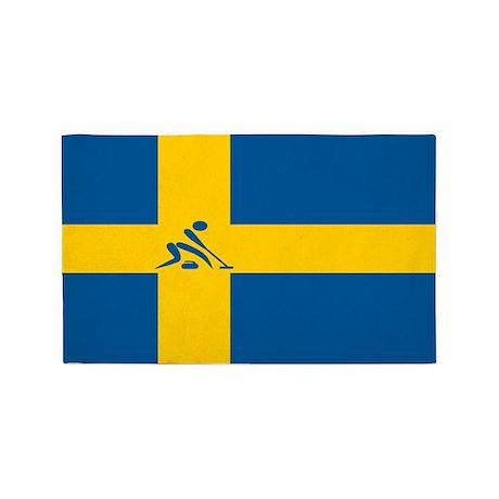 Team Curling Sweden 3'x5' Area Rug