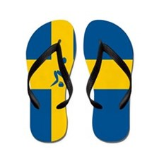 Team Curling Sweden Flip Flops