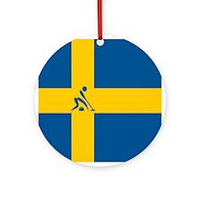 Team Curling Sweden Ornament (Round)