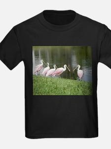 SPOONBILLS AT THE LAKE T-Shirt