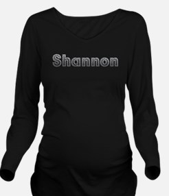 Shannon Metal Long Sleeve Maternity T-Shirt