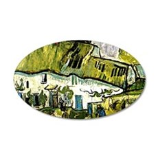 Van Gogh - Farmhouse with Tw 35x21 Oval Wall Decal