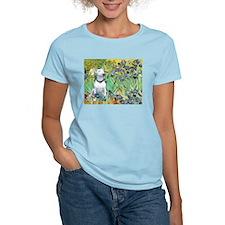 Irises (VanGogh) & Bull Terrier T-Shirt