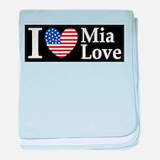 Mia Love I Love large d baby blanket