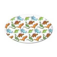 Dinosaur Pattern Wall Decal