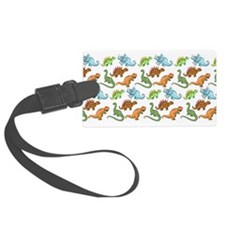 Dinosaur Pattern Luggage Tag