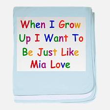 Mia Love when I grow up baby blanket