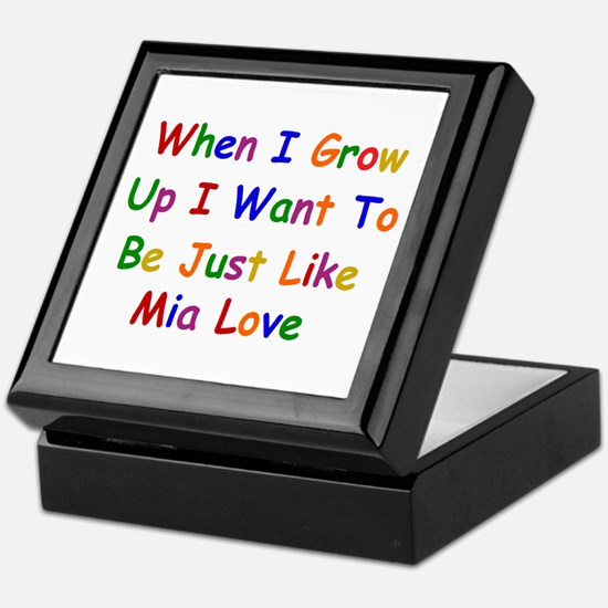 Mia Love when I grow up Keepsake Box
