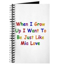 Mia Love when I grow up Journal