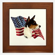 Basenji Flag Framed Tile