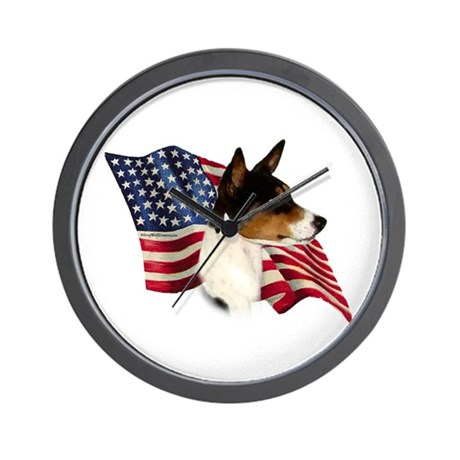 Basenji Flag Wall Clock