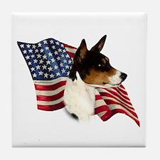 Basenji Flag Tile Coaster