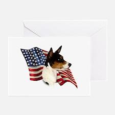 Basenji Flag Greeting Cards (Pk of 10)