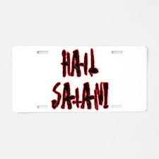 Hail Satan Aluminum License Plate