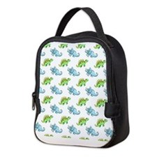 Cute Dinosaurs Neoprene Lunch Bag