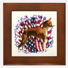 Basenji Patriot Framed Tile