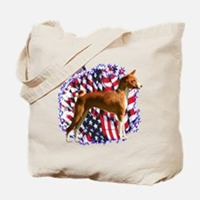 Basenji Patriot Tote Bag