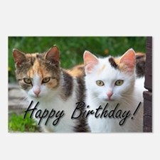 Happy Birthday cats Postcards (Package of 8)