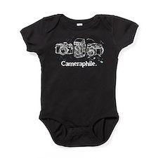 Cameraphile (Light Text) Baby Bodysuit