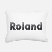 Roland Metal Rectangular Canvas Pillow