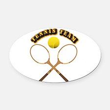 Sports - Tennis Team Oval Car Magnet