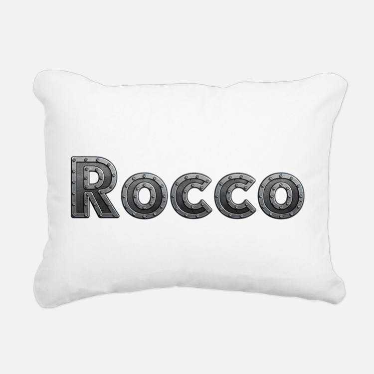 Rocco Metal Rectangular Canvas Pillow
