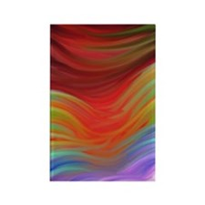 Color waves Rectangle Magnet
