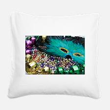 Carnival Spirit of Mardi Gras Square Canvas Pillow