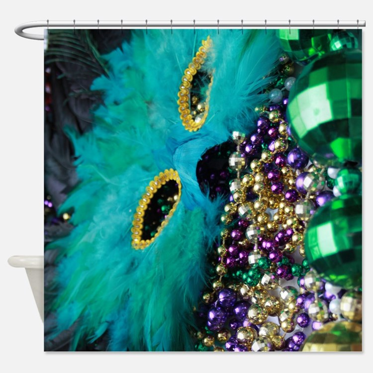 Carnival Spirit of Mardi Gras Shower Curtain