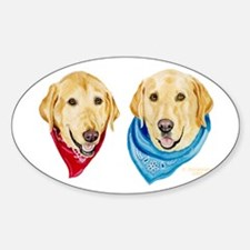Labrador Art Oval Decal