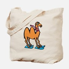 Silly Skiing Camel Tote Bag