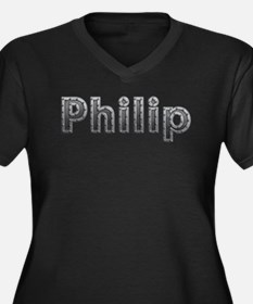 Philip Metal Plus Size T-Shirt